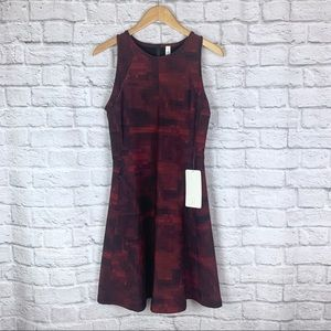 Lululemon Go Til Dawn Dress 10 Black Red Pixel